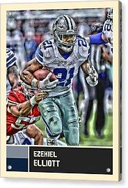 Ezekiel Elliott Dallas Cowboys Acrylic Print