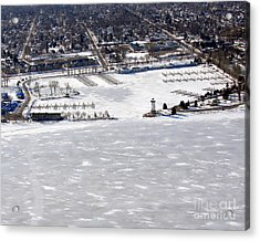 F-002 Fond Du Lac Wisconsin Harbor Winter Acrylic Print by Bill Lang