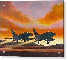 F-100d's Missouri Ang At Dusk Acrylic Print