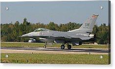 F-16 Falcon Acrylic Print by Donald Tusa
