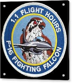 F-16 Ride Patch Acrylic Print