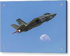 F-35 Shoots The Moon Acrylic Print