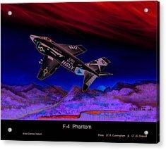 F-4 Phantom Acrylic Print by Dennis Vebert