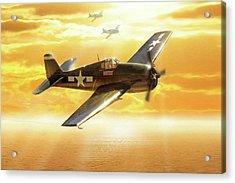 F-6f Hellcat Pacific Sunrise Acrylic Print