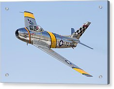 F-86 Sabre Flyby Acrylic Print