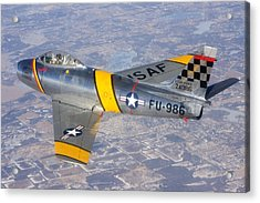F-86 Sabre Flying 1 Acrylic Print