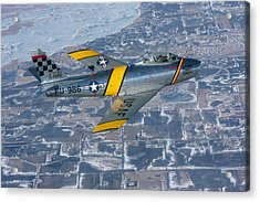 F-86 Sabre Flying 2 Acrylic Print