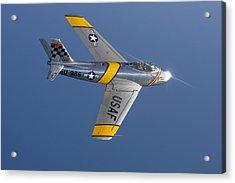 F-86 Sabre Over Lake Michigan Acrylic Print