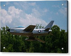 Acrylic Print featuring the digital art F-86l Sabre by Chris Flees