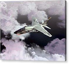 F-8e At Kilo Marshall Acrylic Print by Mike Ray