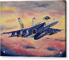 F/a-18 Fighter Acrylic Print by Jim Reale