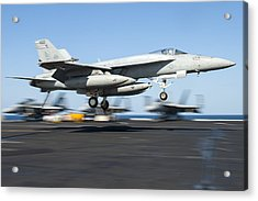F A-18 Super Hornet Us Navy Acrylic Print by Celestial Images