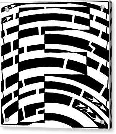 F Maze Acrylic Print by Yonatan Frimer Maze Artist
