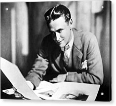F. Scott Fitzgerald In The Late 1920,s Acrylic Print by Everett