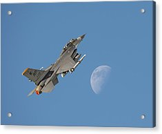 Acrylic Print featuring the photograph F16 - Aiming High by Pat Speirs