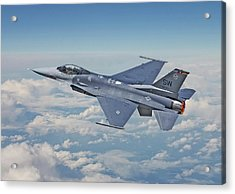 Acrylic Print featuring the digital art F16 - Fighting Falcon by Pat Speirs