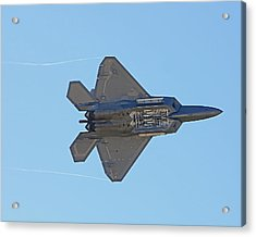 F22 Raptor Munitions Bays Open Acrylic Print by Dave Clark