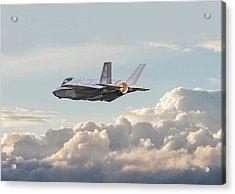 Acrylic Print featuring the photograph F35 -  Into The Future by Pat Speirs