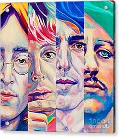 Fab Four Acrylic Print by Rebecca Glaze