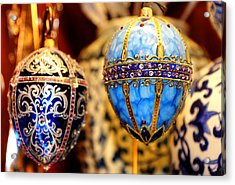Faberge Holiday Eggs Acrylic Print