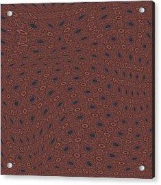 Fabric Design 18 Acrylic Print by Karen Musick