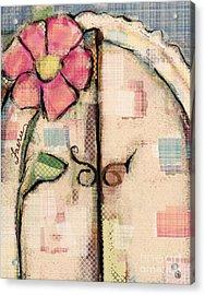 Fabric Fairy Door Acrylic Print