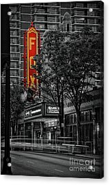 Fabulous Fox Theater Acrylic Print by Doug Sturgess
