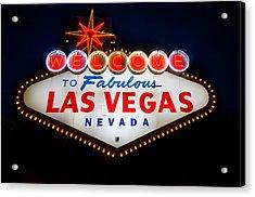 Fabulous Las Vegas Sign Acrylic Print by Steve Gadomski