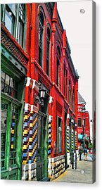 Facade Of Color Acrylic Print