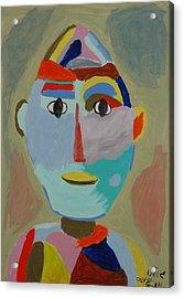 Face Acrylic Print by Harris Gulko