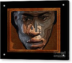 Face In A Box Acrylic Print by Walter Oliver Neal