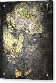 Face In Bronze And Copper Acrylic Print