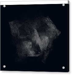 Face In Dark Mood Acrylic Print by Viktor Savchenko
