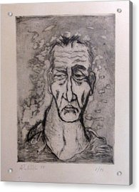 Face Marked By Fatigue Acrylic Print by Alfonso Robustelli