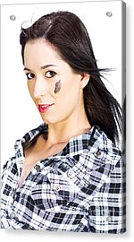 Face Of A Female Machanic Acrylic Print