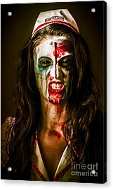 Face Of A Scary Woman In A Horror Nurse Costume Acrylic Print by Jorgo Photography - Wall Art Gallery