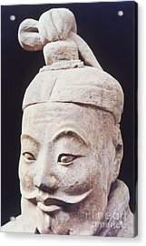Face Of A Terracotta Warrior Acrylic Print by Heiko Koehrer-Wagner