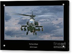 Face Of Death Ah-64 Apache Helicopter Acrylic Print