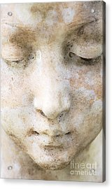 Face Of Stone Acrylic Print by Neil Overy
