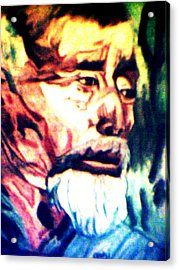 Face Of Strength  Acrylic Print by Jo-Ann Hayden