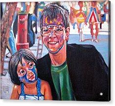 Face-painter Acrylic Print by Michael Gaudet