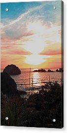 Face Rock Sunset II Acrylic Print