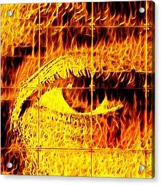 Face The Fire Acrylic Print