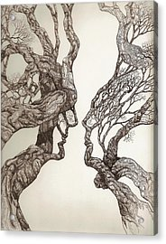 Face Tree 11 Acrylic Print by Brian Kirchner
