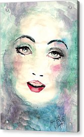 Face Upon The Water Acrylic Print by Scarlett Royal