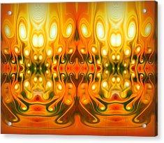 Face Your Demons Acrylic Print by Talasan Nicholson