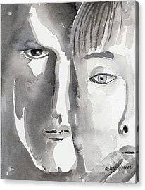 Faces Acrylic Print by Arline Wagner