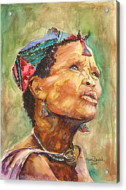 Acrylic Print featuring the painting Faces Of Africa by P Maure Bausch