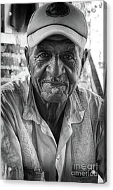 Faces Of Cuba The Gentleman Acrylic Print