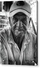 Faces Of Cuba The Gentleman Acrylic Print by Wayne Moran